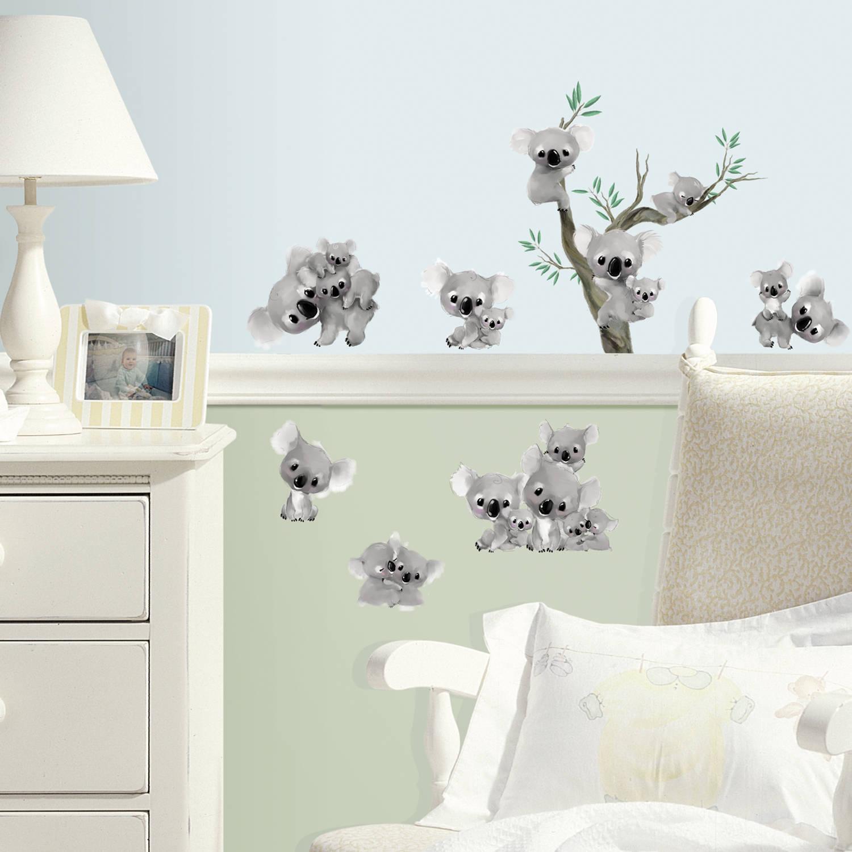 Muursticker Roommates: Koalas 45x25 Cm