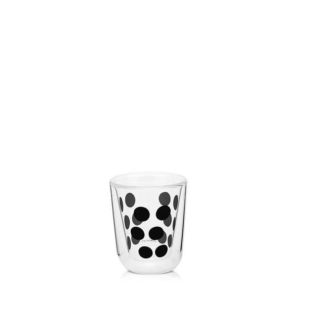 Zak!Designs DotDot espressobeker dubbelwandig - 7,5 cl - zwart