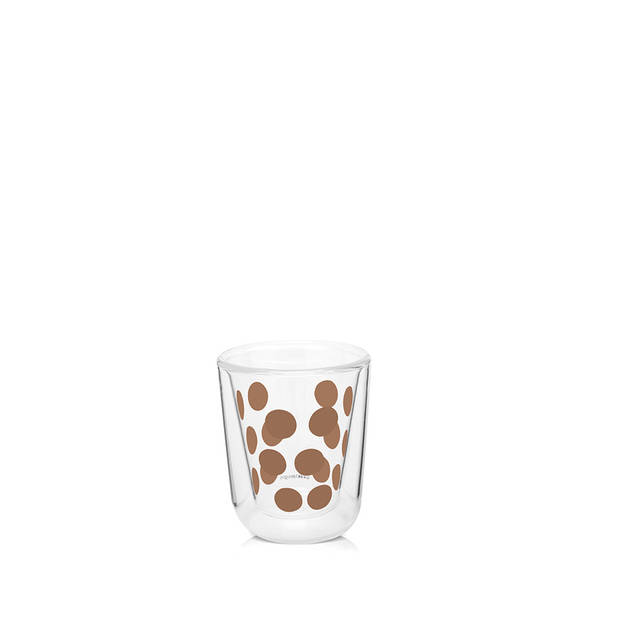 Zak!Designs DotDot espressobeker dubbelwandig - 7,5 cl - koper