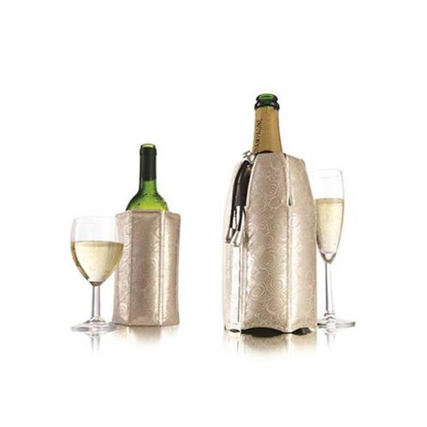 Vacu Vin Actieve wijn en champagnekoeler - Platinum - Vacuvin