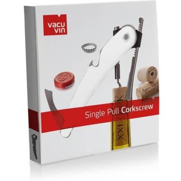 Vacu Vin Single Pull ontkurker Wit - Vacuvin