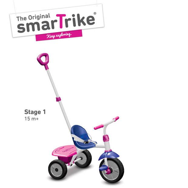 SmarTrike Fun driewieler met duwstang - roze/blauw