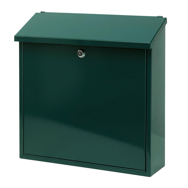 V-Part Malagan wandbrievenbus - 11,5 x 37 x 37 cm - staal - groen