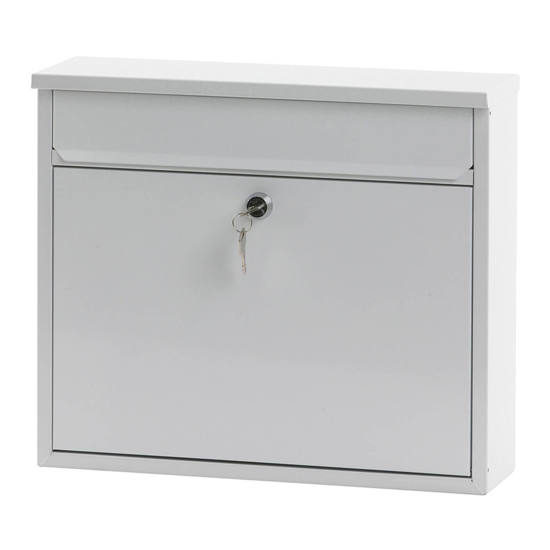 V-Part Granadan wandbrievenbus - 11 x 36 x 31,5 cm - staal - wit