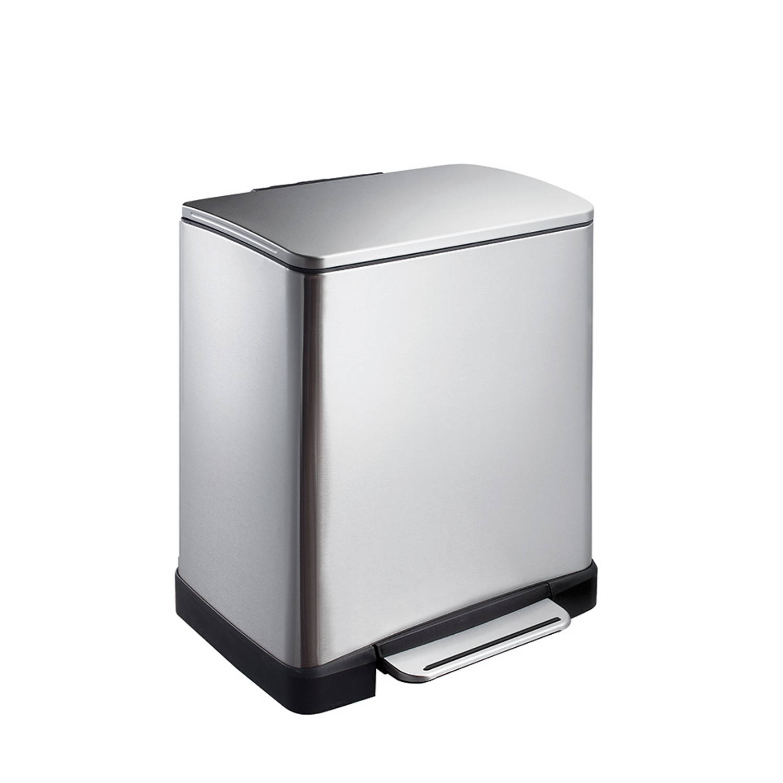 EKO E-Cube pedaalemmer afvalscheider- 10 9L mat RVS