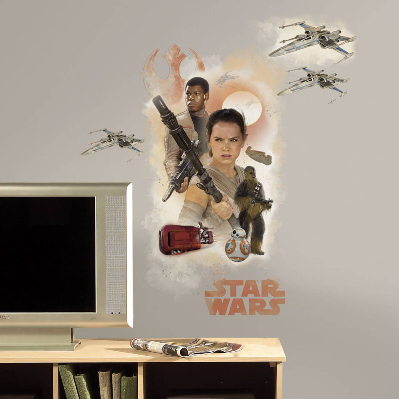 Star Wars Episode Vii Hero Muursticker