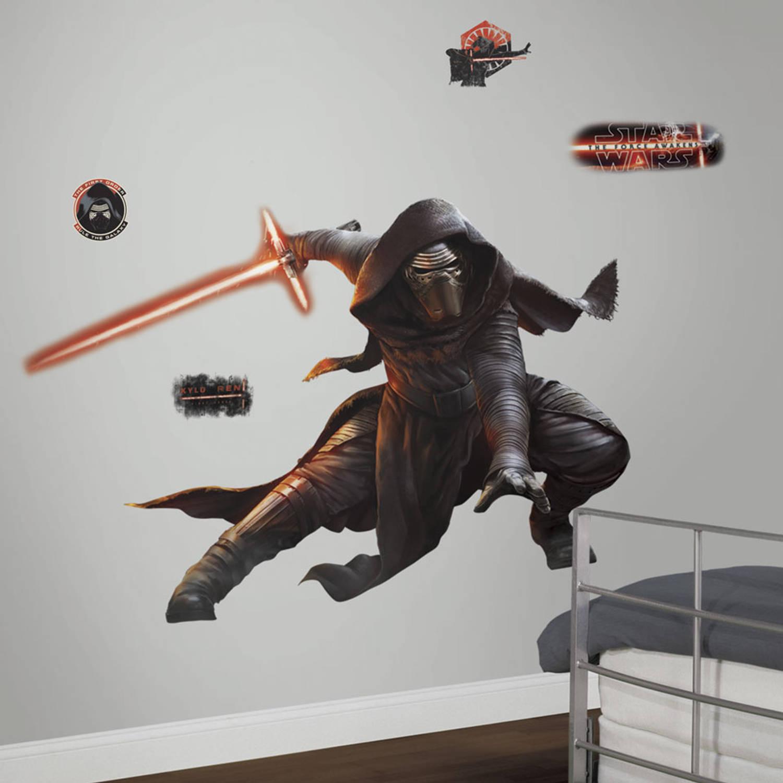 Star Wars Episode Vii Kylo Ren Glow In The Dark Muursticker