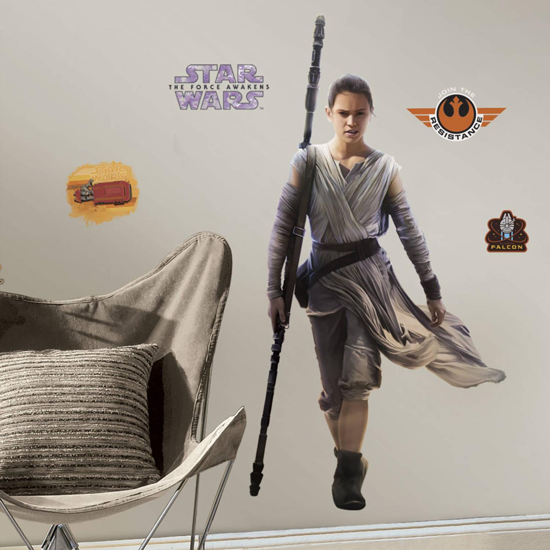 Muursticker Star Wars VII: Rey