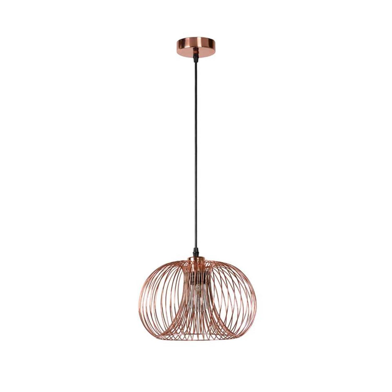 Korting Lucide Hanglamp Vinti Ø30 Cm Rood Koper