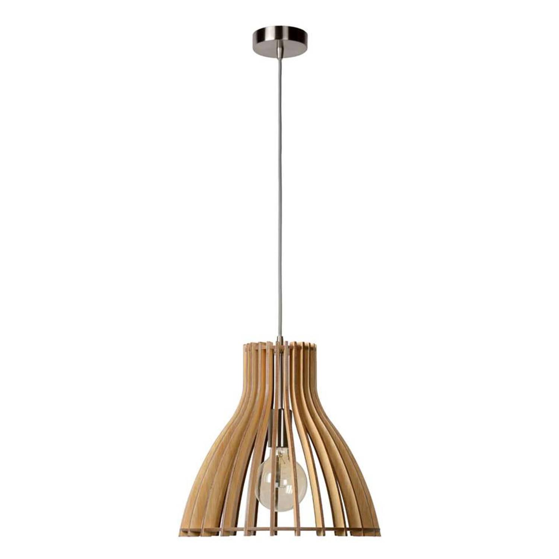 Lucide hanglamp Bounde - Ø35 cm - licht hout