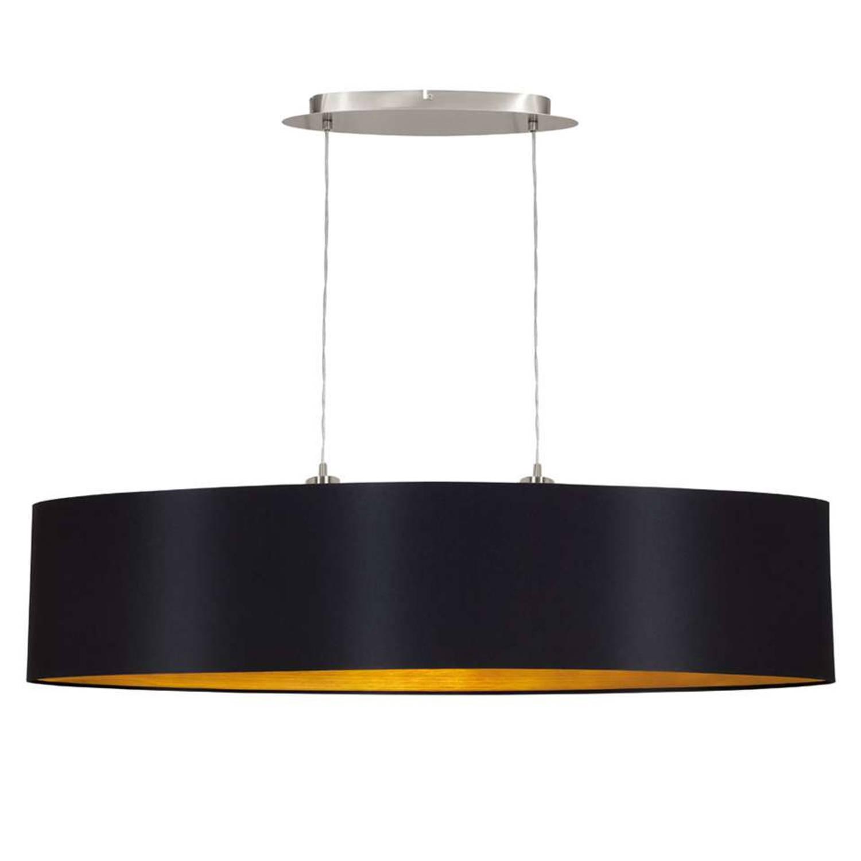EGLO hanglamp Maserlo ovaal - zwart/goud