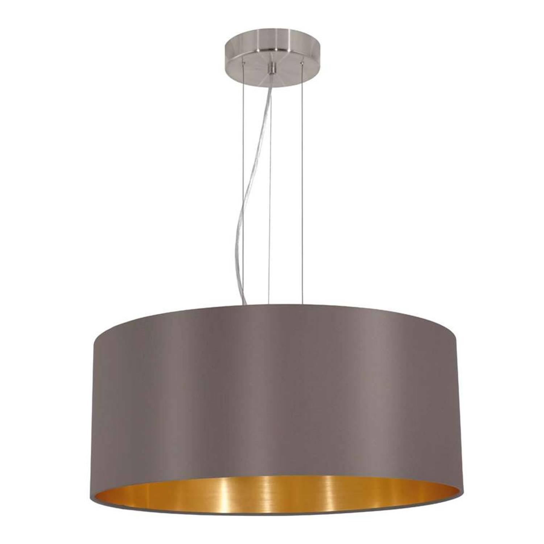 EGLO hanglamp Maserlo rond - cappuccino/goud