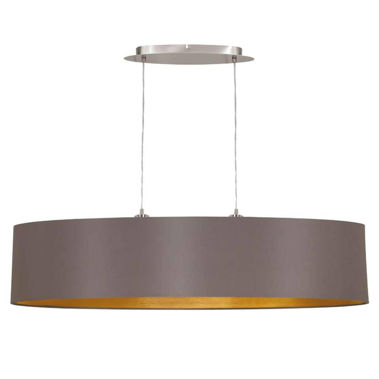 EGLO hanglamp Maserlo ovaal - taupe/goud