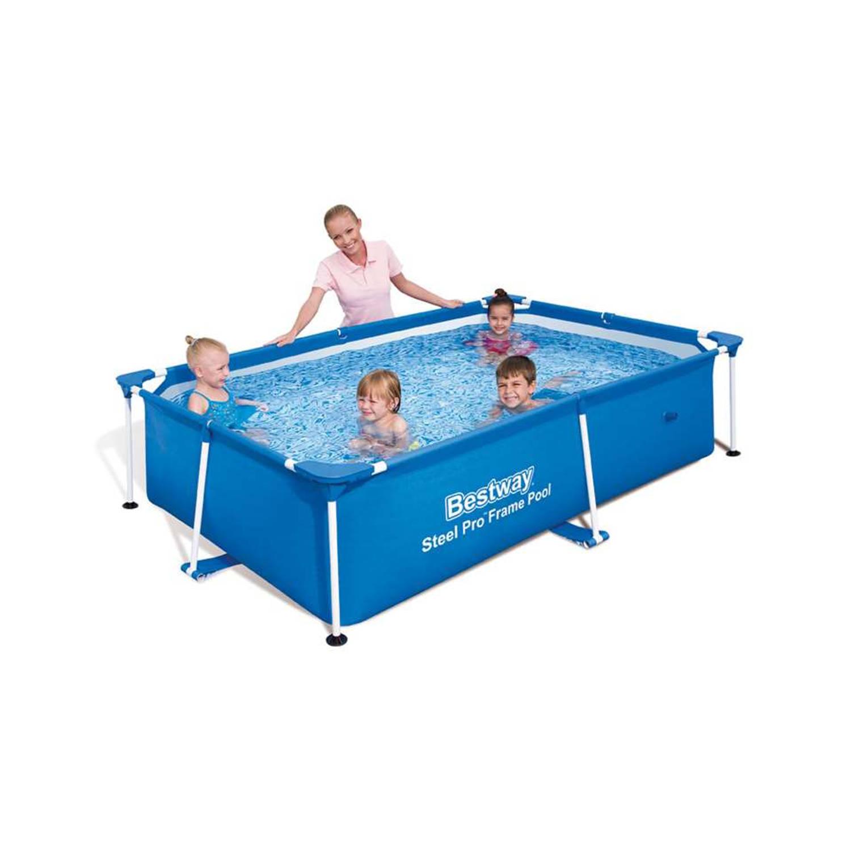 Bestway steel pro splash frame zwembad 239x150x58 cm for Blokker zwembad