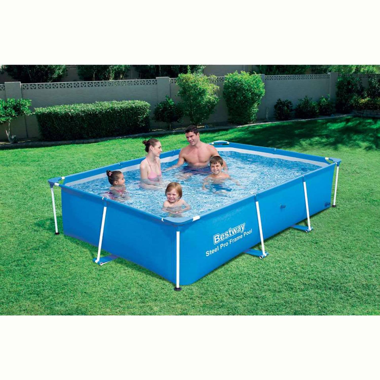 Bestway steel pro deluxe splash junior frame zwembad for Blokker zwembad