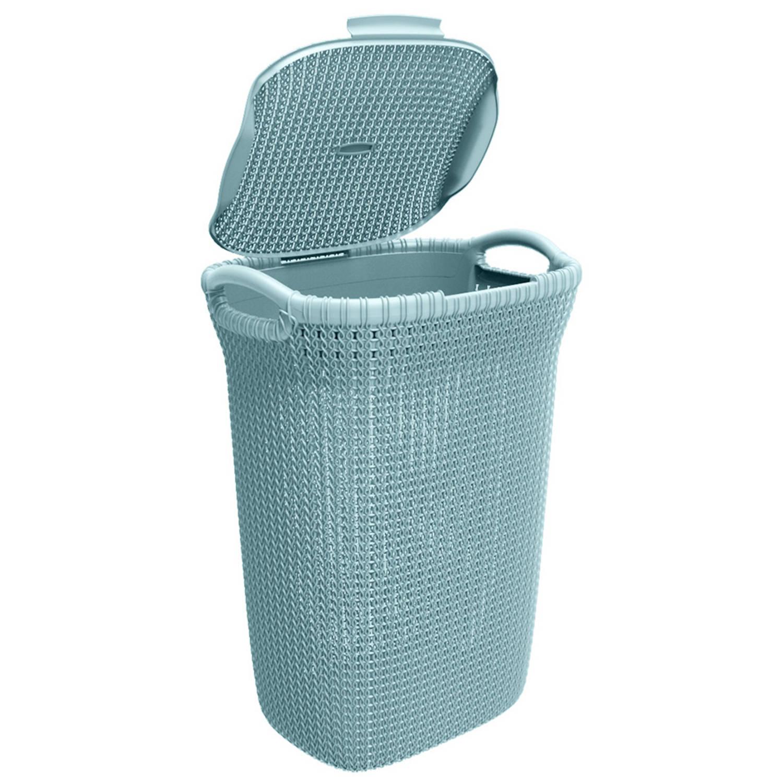 Korting Curver Knit Wasbox 57 L Misty Blue