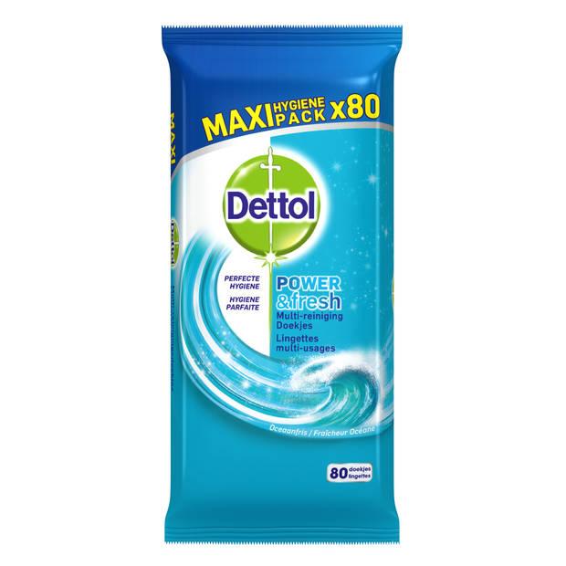 Dettol Power And Fresh Oceaanfris multi-reinigingsdoekjes - 80 stuks