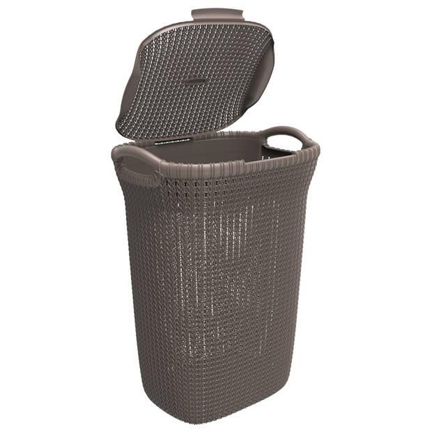 Curver Knit wasbox - 57 l - Harvest Brown