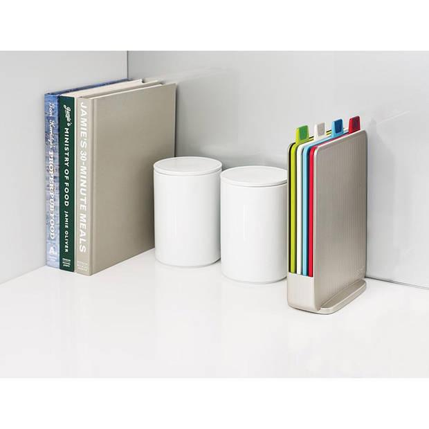 Joseph Joseph snijplankenset Index Mini - 4 stuks - zilverkleurig