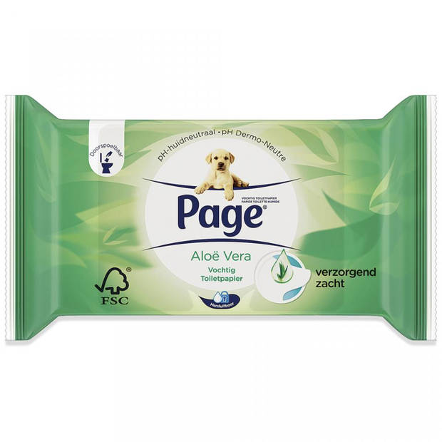 Page vochtig toiletpapier - Aloë Vera navulling
