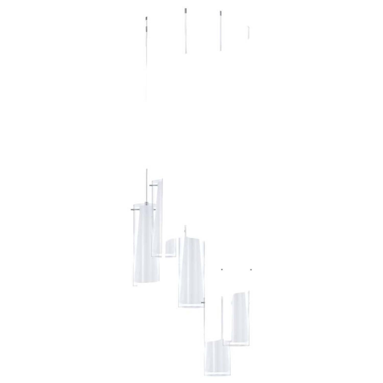 EGLO HANGLAMP 5 E27 CHROOM HELDER WIT 'PINTO'
