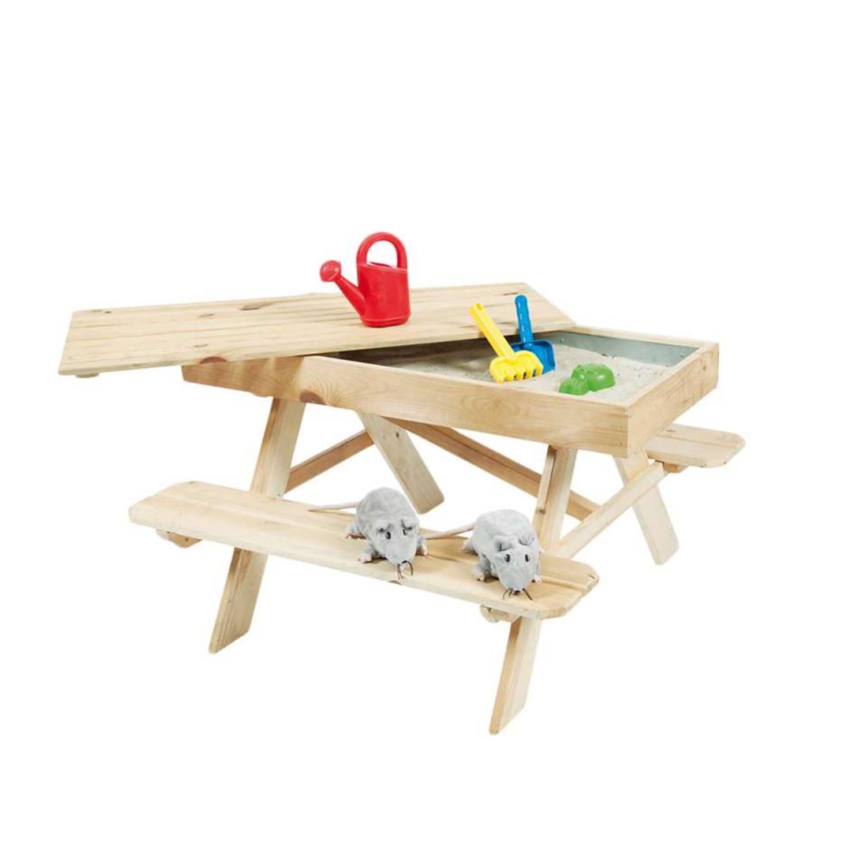 Outdoor Life Products kinderpicknick tafel met zandbak