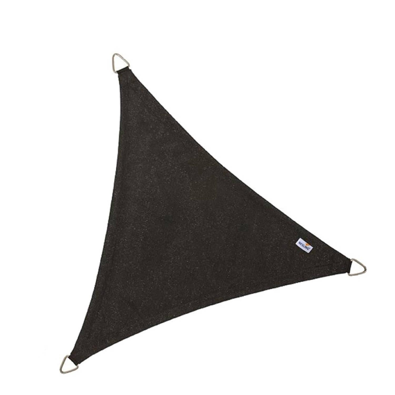 Coolfit schaduwdoek driehoek zwart 5.0 x 5.0 x 5.0 meter