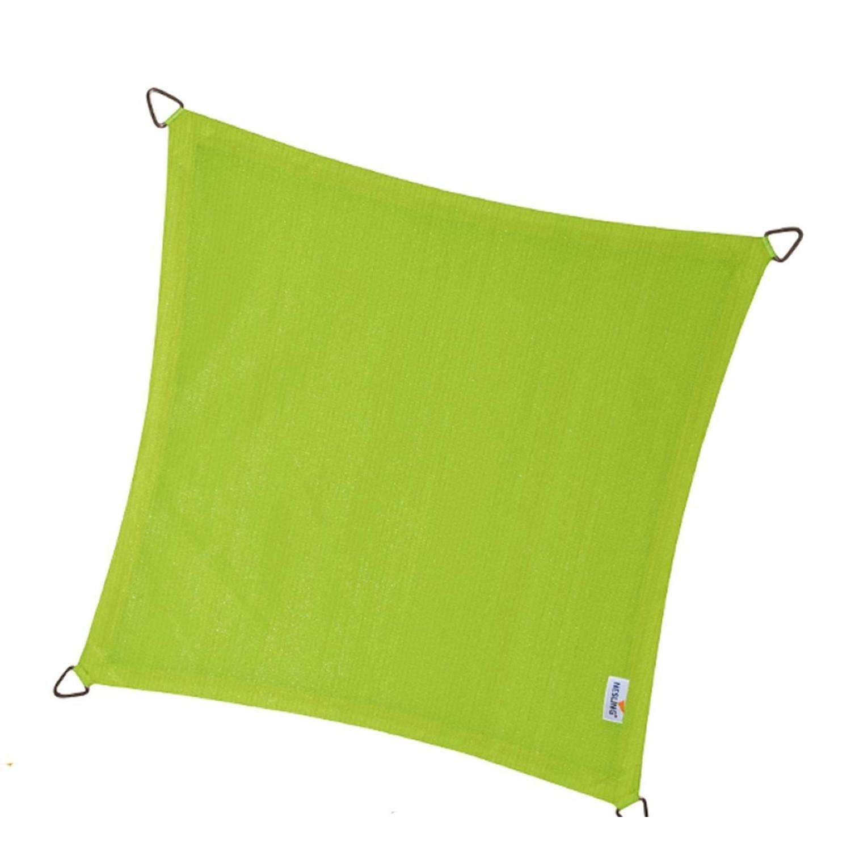 Coolfit schaduwdoek vierkant lime groen 5.0 x 5.0 meter
