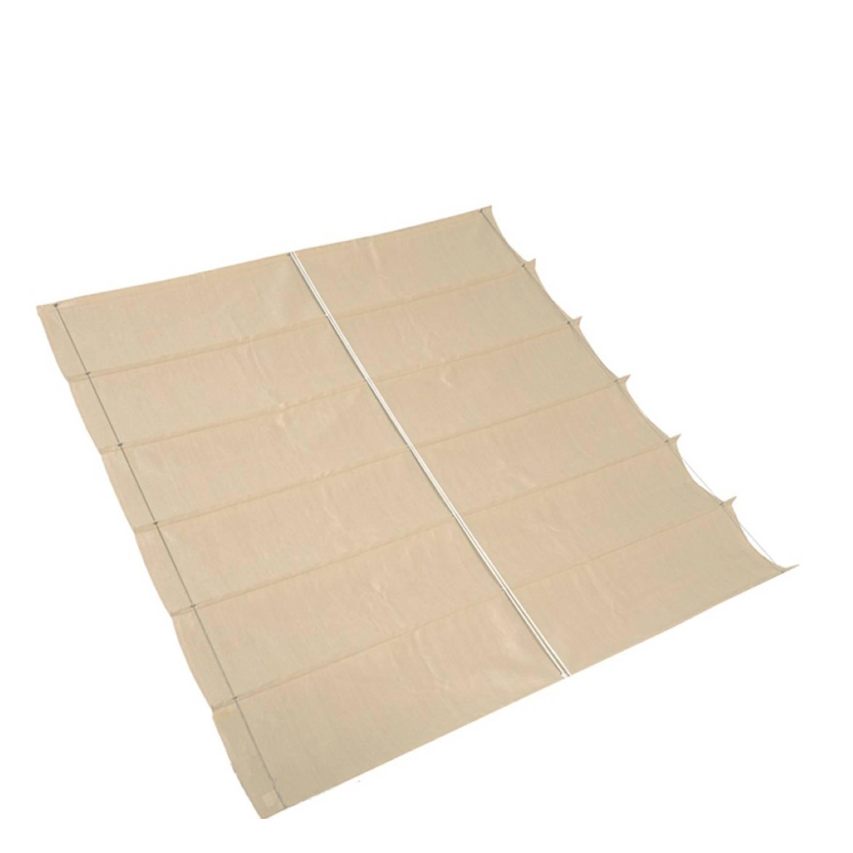 Nesling Coolfit Harmonica Schaduwdoek gebroken wit 3,7 x 3,7