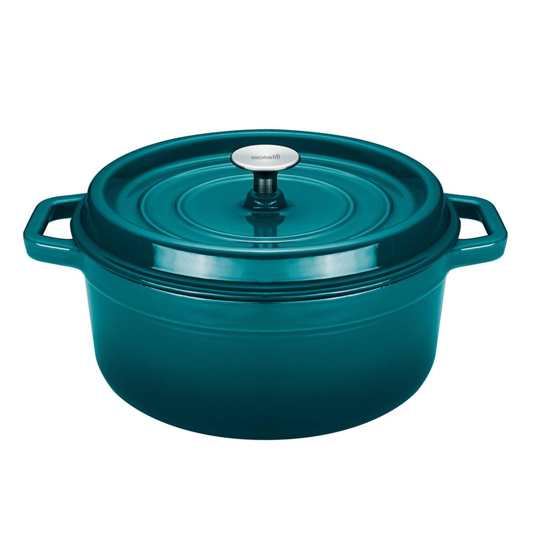 Sola braadpan met deksel Ø 28 cm blauw groen