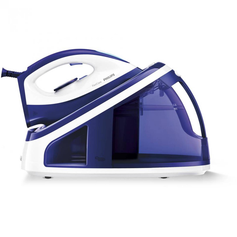 Philips stoomgenerator FastCare GC7703/20 - blauw/wit