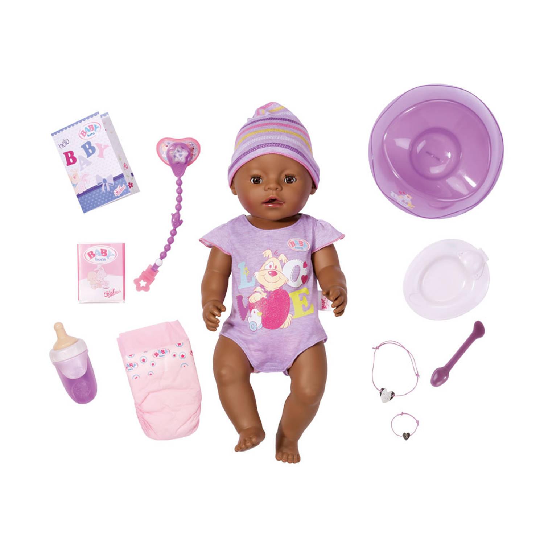 BABY born interactieve pop met 9 functies - paars