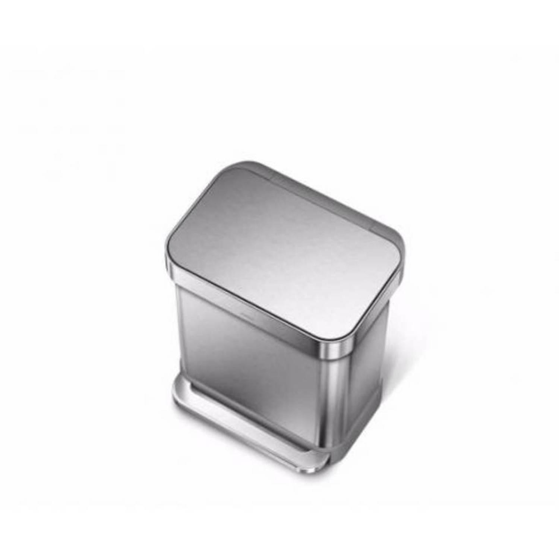 Prullenbak Rectangular met Liner Pocket RVS 30 liter RVS Simplehuman