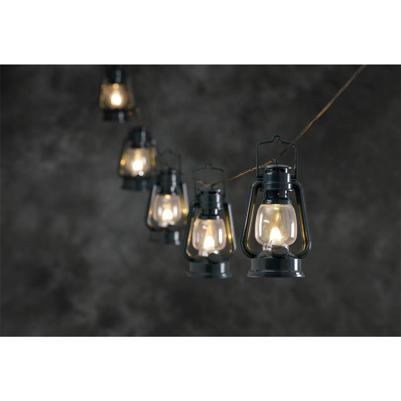 Konstsmide LED Lichtsnoer met 8 lantaarns - warmwit