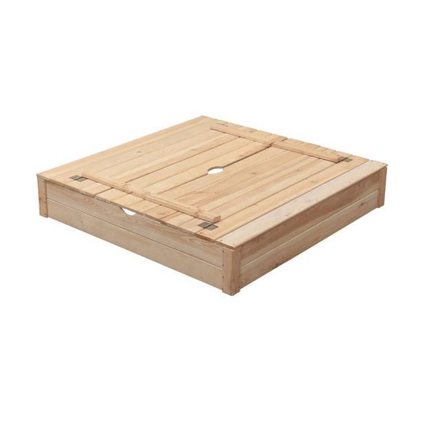 SwingKing zandbak - blank hout - Robert