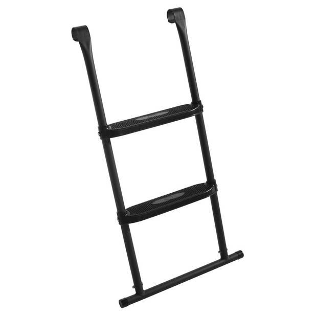 Salta ladder voor trampoline met 2 treden - 82 x 52 cm - zwart
