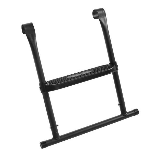 Salta ladder voor trampoline met 1 trede - 56 x 52 cm - zwart