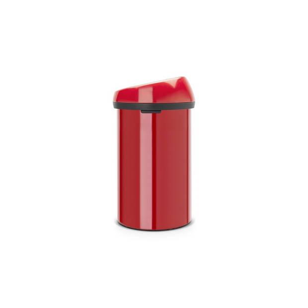 Brabantia Touch Bin afvalemmer 60 liter - Passion Red