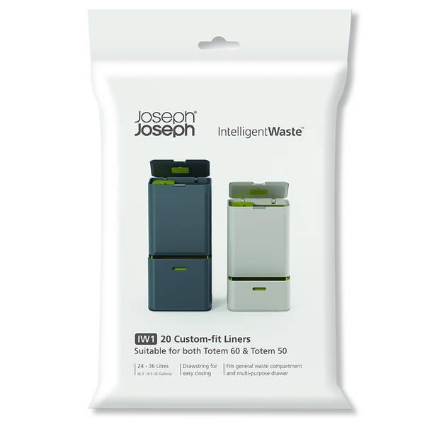 Joseph Joseph Intelligent Waste afvalzakken - 36 l - wit - 20 stuks