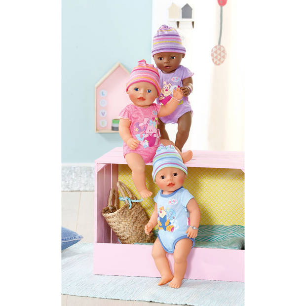 BABY born interactieve pop met 9 functies - roze