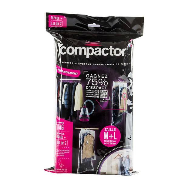 Compactor vacuumzakken met ingebouwde kapstok - lange en korte hoes