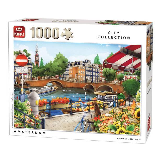 King puzzel City Collection Amsterdam - 1000 stukjes