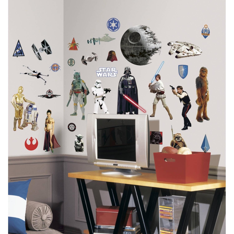Stickervel Star Wars Muur: 1 Vel 46x101 Cm