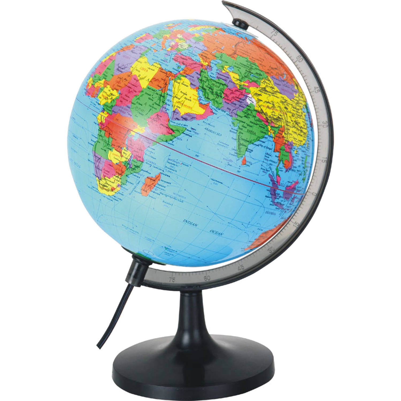Globe Wereldbol 20cm met verlichting