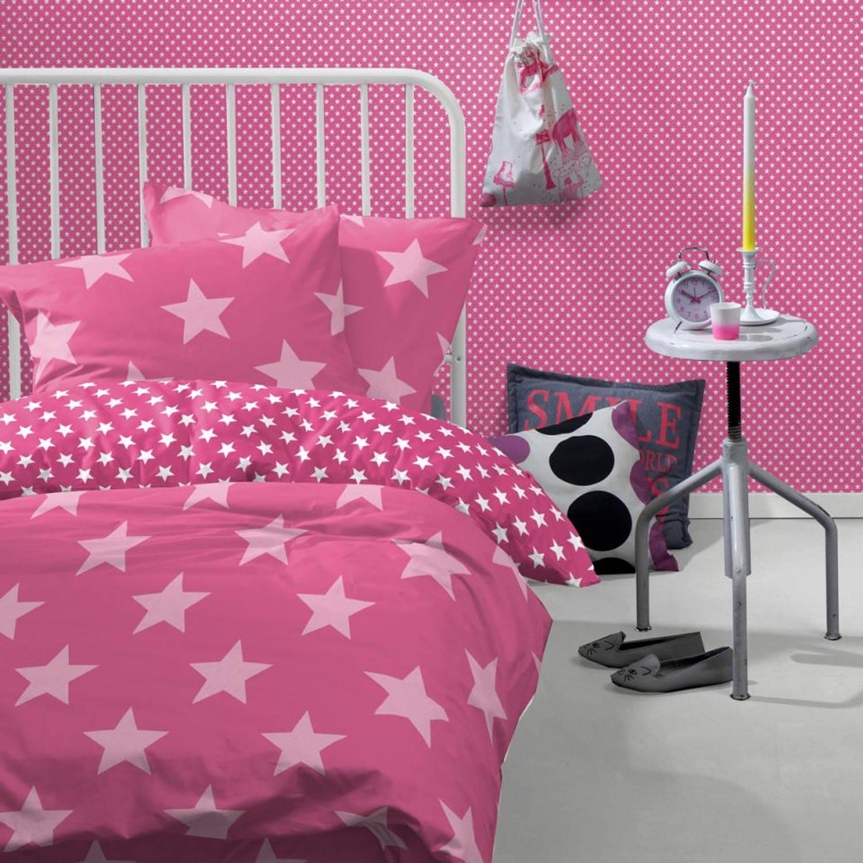 Damai dekbedovertrek Starville - roze - katoen - 140 x 220 cm