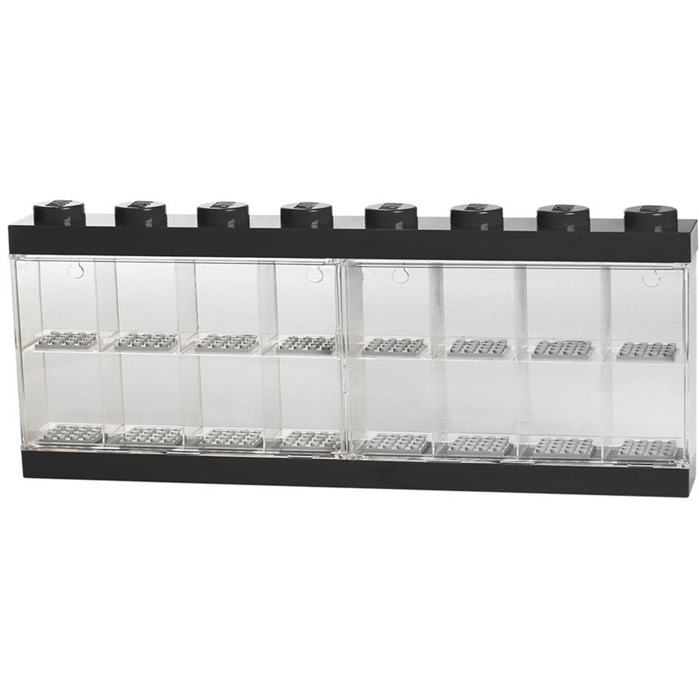 LEGO opbergbox voor 16 minifiguren - zwart