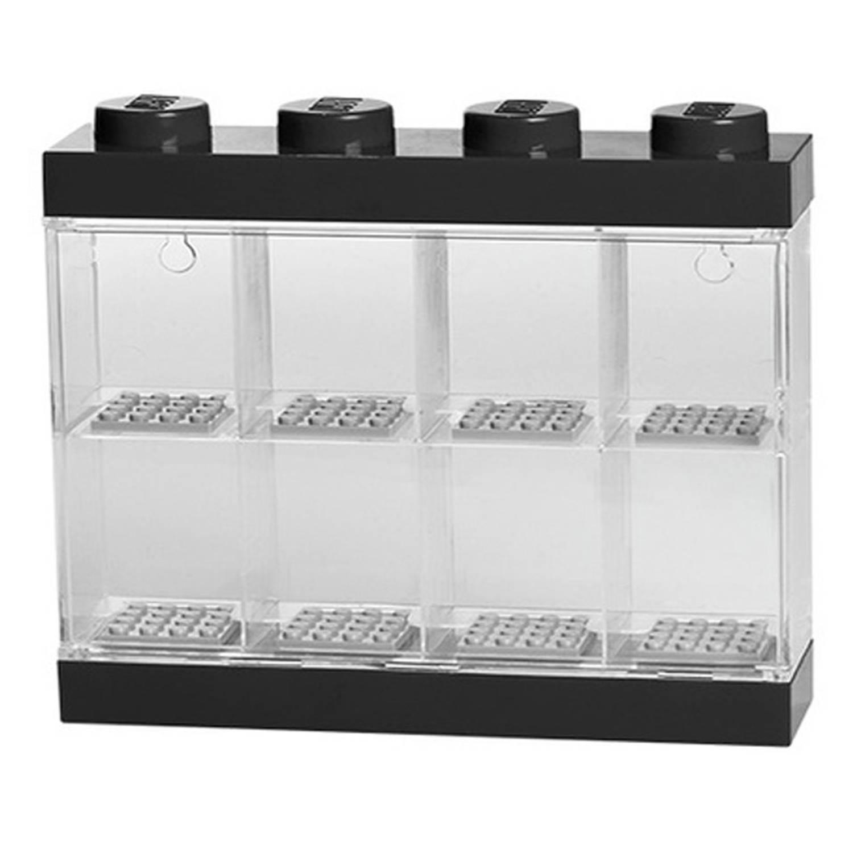 LEGO opbergbox voor 8 minifiguren - zwart