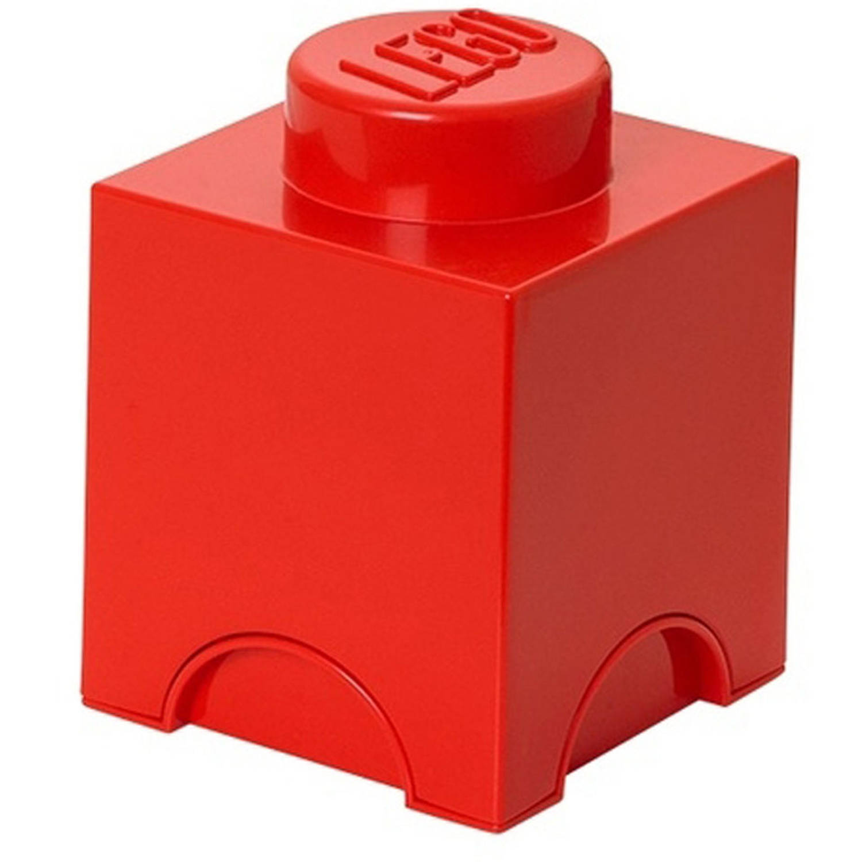 LEGO Brick 1 opbergbox - rood