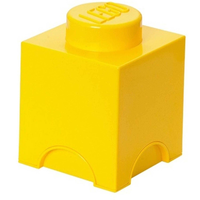 LEGO Brick 1 opbergbox - geel