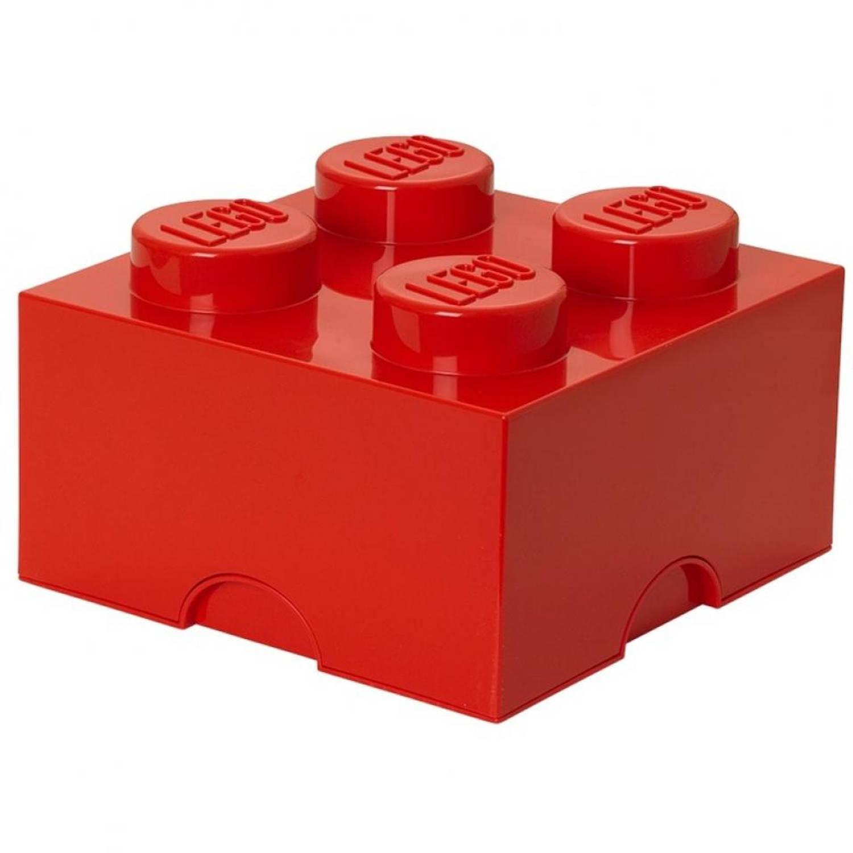 LEGO Brick 4 opbergbox - rood